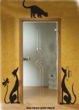 Für die Türe - Galgos mit Katze